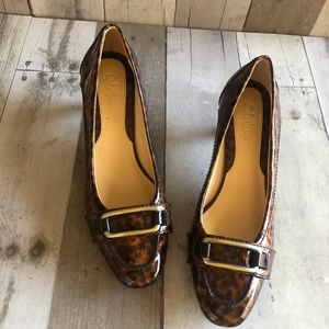 Cole Haan Patent Animal Print Pumps Size 7.5